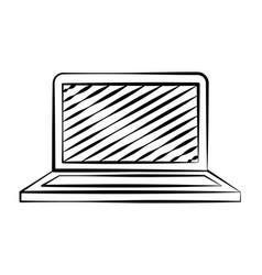 laptop computer doodle vector image