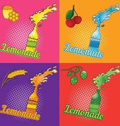 Lemonade Pop-art poster vector