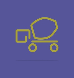 Linear cement truck icon vector image