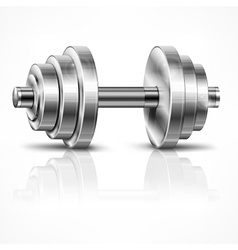 Metallic dumbbell vector