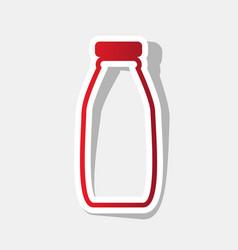 milk bottle sign new year reddish icon vector image