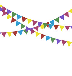 Party flags for decoration festive flags holiday vector