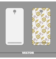 Phone Cover Yellow Flowers On White vector