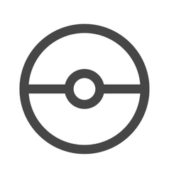 Pokeball icon in gray color vector