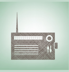 radio sign brown flax icon vector image