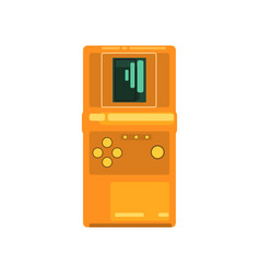 retro tetris electronic game console vector image