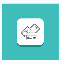 round button for credit card money currency vector image