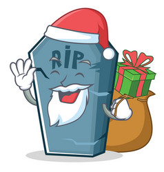 Santa tombstone character cartoon object vector