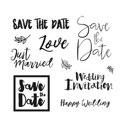 save the date wedding invitation labels vector image