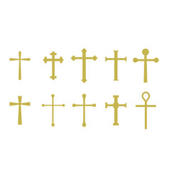 set christian crosses vector image