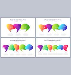 set modern infographic designs templates vector image