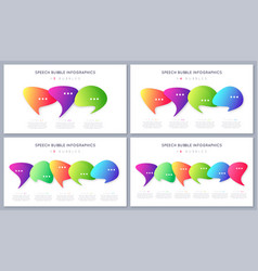 set of modern infographic designs templates vector image