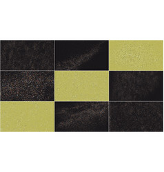 set terrazzo pattern vector image