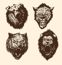 Set wild animals vector image