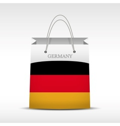 Shopping bag with Germany flag vector image