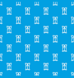 Sill window frame pattern seamless blue vector