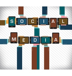 Social Media Smart Phone vector image