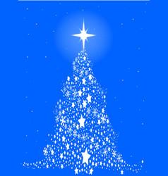 Star spangled snowflake christmas tree vector
