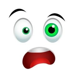Surprised emoticon sign vector