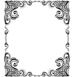 Template frame design for card Floral pattern vector image