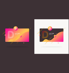 The letter d latin alphabet display vector