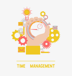 time management concept banner vector image