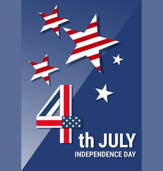 United states independence day holiday 4 july vector