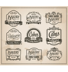 Vintage Retro Bakery Label Set vector image