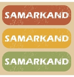 Vintage Samarkand stamp set vector