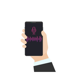 voice assistant on phone vector image