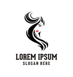 woman face beauty logo vector image