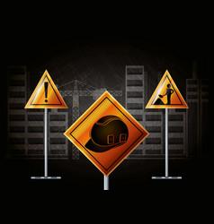 construction in progress design vector image