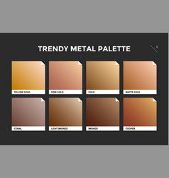 gold copper and bronze gradient template vector image