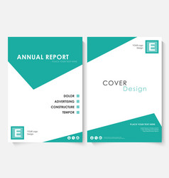 green square annual report cover design template vector image vector image