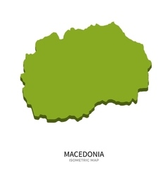 Isometric map of Macedonia detailed vector image