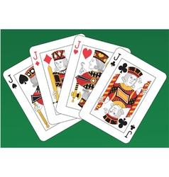 Jacks poker vector
