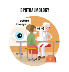 medical eye care template vector image