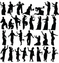 thai dancers vector image vector image