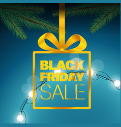 black friday sale concept black friday sale gold vector image vector image