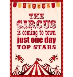 circus vintage poster for your design vector image
