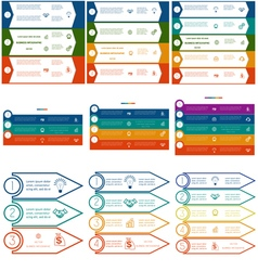 Infographics cyclic processes 9 templates vector image