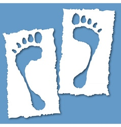 paper foot hole vector image vector image