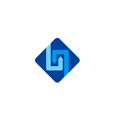 square circle arrow business logo vector image vector image