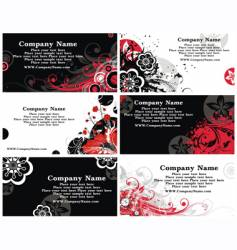 collection of horizontal business cards vector image vector image