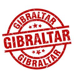 Gibraltar red round grunge stamp vector