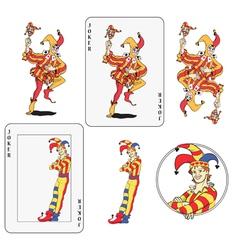Jokers set vector image