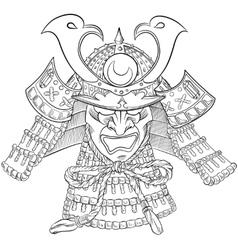 Samurai Japan Mask vector image