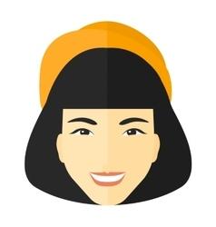 Smiling happy woman vector image vector image