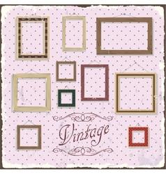 Vintage Photo frame template vector image