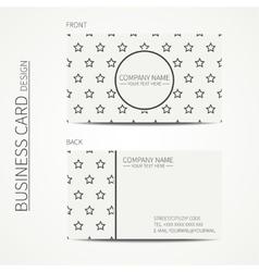 Vintage simple geometric monochrome business card vector image